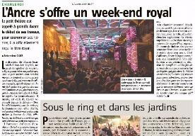 L'Ancre offers a royal weekend