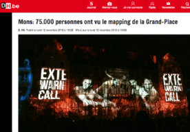 Mons : 75000 people have seen the mapping at the Grand-Place